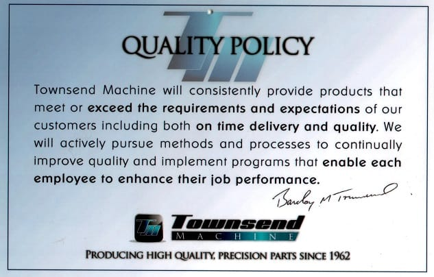 Townsend Machine Inc., CNC Precision Machine Shop in NJ